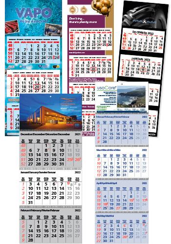Drie- vierluik kalender
